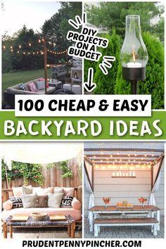 Garden Ideas Budget Backyard, Small Backyard Design, Budget Patio, Small Backyard Landscaping, Small Patio, Outdoor Patio Ideas On A Budget Diy, Landscaping Ideas For Backyard, Deck Decorating Ideas On A Budget, Backyard Decorations