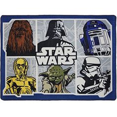 Star Wars Classic Area Rug with Darth Vader Yoda Chewbacca and a Stormtrooper x 54 -- Be sure to check out this awesome product. (This is an affiliate link and I receive a commission for the sales) Star Wars Bedroom, Star Wars Nursery, Classic Bedding, Classic Rugs, Star Wars Bett, Star Wars Kindergarten, Marvel Bedding, Star Wars Zimmer, Star Wars Memorabilia