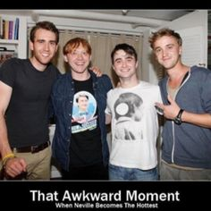 The only reason I think this is funny is because Neville is still ugly...Malfoy all the way!