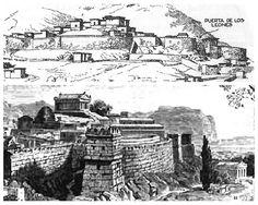 Arquitectura griega.Reconstrución de la ciudad de Micenas.
