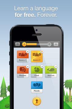 Duolingo – Free app that uses game strategies to teach language. Learn Spanish, French, German, Italian, English, Portuguese.
