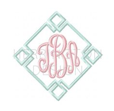 Diamond Embroidery Monogram Design Preppy by HerringtonDesign Embroidery Monogram, Embroidery Fonts, Custom Embroidery, Machine Embroidery Designs, Monogram Frame, Monogram Design, Monogram Machine, Craft Sites, Satin Stitch