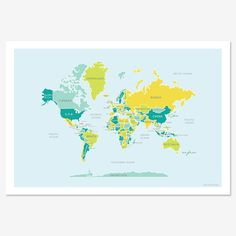 Hey, I found this really awesome Etsy listing at https://www.etsy.com/listing/67621386/classic-map-of-the-world-print