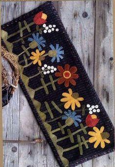 Summer Wild Flowers - Wool Applique