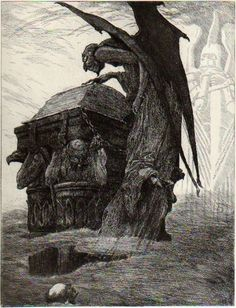 """scribe4haxan: """" Devil Reads in the Book of Fate ~ by Louis Moe… """""""