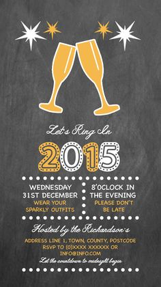 2015 New Years Eve Party Invitation designed by me at Nic's Designs.