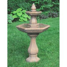 Fountain Lawn Ornament 2 Tier Boca Hexagon Fountain, H x W x Hex B, Shown in Everglade Stone Finish but available in a variety of finishes. This beautiful Boca Fountain adds elegance to any place. Concrete Fountains, Stone Fountains, Garden Fountains, Outdoor Fountains, Lawn Ornaments, Garden Buildings, Garden Stones, Outdoor Areas, Modern
