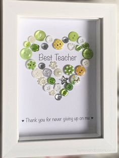 Best Teacher Personalised Picture - End of Term Gift for Teachers, Teaching Assistant / School Staff / Thanks / Colleague / Leaving School