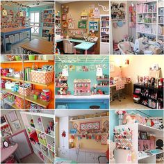 already said-Amazing craft rooms  One day I will have a house I can have a craft room like this!!