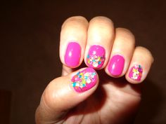 Fun summertime nails.