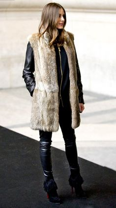 olivia palermo   fur gilet Is in this Autumn. Loving this look on Olivia  Palermo 3ec84cef2e2