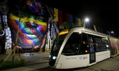 Mural no Boulevard Olímpico