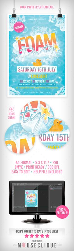 Summer Party Flyer Party flyer and Flyer template