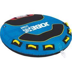Jobe 230217005 Storm 2 Person Deck Tube Inflatable Towable, Multicolor
