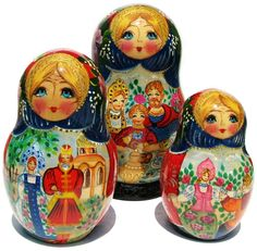 Russian Nesting Eggs   Russian Tea Nesting Doll 10-piece set 9H by Great Russian Gifts