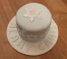 Gluten free Christmas cake, rich fruit cake covered in marzipan and fondant.