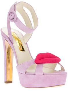 lip detail platform sandal