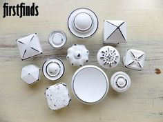 12 Misfit Knobs Shabby Chic Small Medium Large by Firstfinds, $59.00