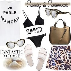 """Swimsuit and Sunnies!"" by ifchic on Polyvore"