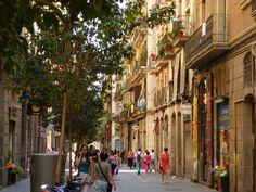 El Raval streets. Barcelona, Catalonia. May 31, 2012