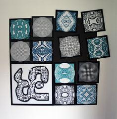 Décoration d'intérieur / Vue d'intérieur / Tableau art moderne / Carreaux aimantés interchangeables / Cementile Bios - Motifs Koni