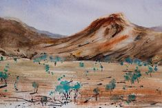 Painting Mountains in Watercolours Watercolor Landscape Paintings, Watercolor Painting, Mountain Paintings, Watercolor Techniques, Art Reference, Watercolor Tattoo, Drawings, Landscapes, Watercolours