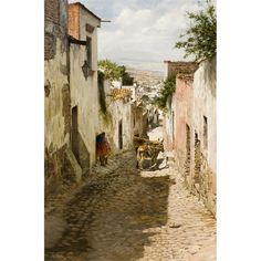 """Clark Hulings (1922 – 2011) was an American realist painter.   """"San Miguel"""""""