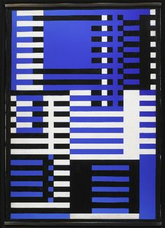 Josef Albers. 1926Blue glass flashed on milk glass, sandblasted, with black paint44.6 x 31.4 cm.Albers Foundation/Art Resource, NY.