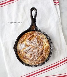 Apples, brown sugar, and cinnamon make up this custardy German-style apple pancake from my childhood.