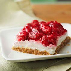 No-Bake Cherry Cheesecake - my grandma used to make this. I like the updated, healthier version!