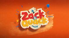 Styleframes proposal for Zack & Quack TV Show. Game Logo Design, Word Design, Ux Design, Layout Design, Creative Logo, Creative Design, Tv Show Logos, Logo Tv, Gaming Banner