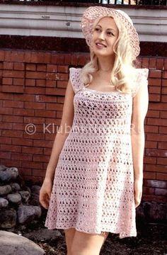 Светло-розовый сарафан и шляпка | Вязание для женщин | Вязание спицами и крючком. Схемы вязания.