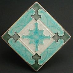 """Decorative wall tile 6 1/8"""" x 6 1/8"""" square x 9/16"""" thick"""