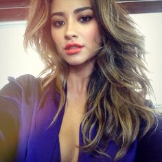 Shay Mitchell looks stunning with this lip color. #PrettyLittleLiars