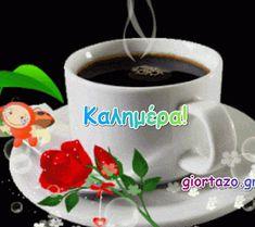 Καλημέρα! Εικόνες gif.....giortazo.gr - Giortazo.gr God Is Good Quotes, Best Quotes, Happy Birthday, Tableware, Blog, Sign, Google, Happy Brithday, Dinnerware