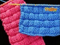 Cómo Tejer Punto CANASTO REVERSIBLE-Basketweave Stitch 2 agujas (360) - YouTube