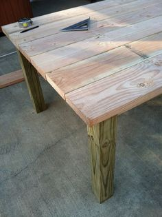 Build Own Outdoor Wood Farm Table