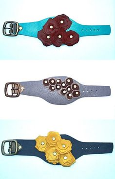 Beautiful leather jewelry made by African women in Ethiopia... help the needy when buying something beautiful