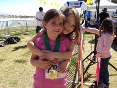 Seven year old Eva was the last finisher at the triathlon, but, wow, seven years old!