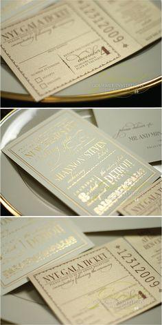 Mint & Gold #Wedding Invitations