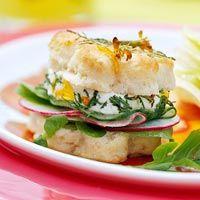 BHG's Newest Recipes:Petal Tea Sandwiches Recipe