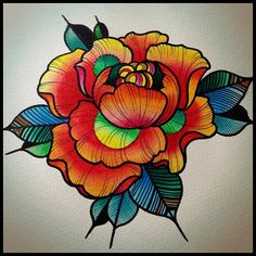 #flower #rose #neotraditional