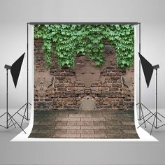 Amazon.com : Kate 5x7ft Brick Wall Photography Backdrop Boston Ivy Photo Background Cotton No Wrinkle Children Backdrops for Photographers CM-S-1837 : Camera & Photo