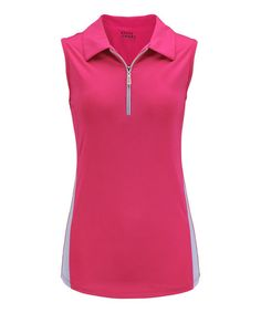 Look at this #zulilyfind! Hot Pink & Periwinkle Sleeveless Polo by Bette & Court #zulilyfinds