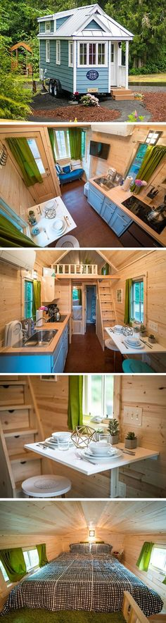Zoe, one of five tiny houses at the Mt. Hood Village Resort in Oregon Zoe, one of five tiny houses at the Mt. Hood Village Resort in Oregon Tiny House Company, Tiny House Plans, Tiny House On Wheels, Tyni House, Tiny House Living, Two Bedroom Tiny House, Tiny House Movement, Tumbleweed Tiny Homes, Tiny House Nation