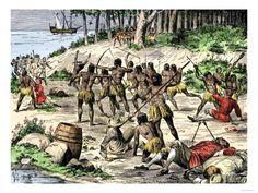 Spanish massacre by the #Taino