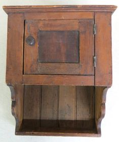 Small 19th century Pennsylvania hanging wall cupboard