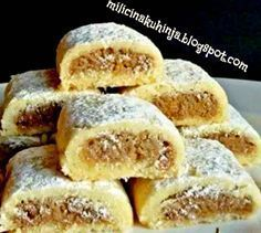 Bredele with brown sugar and praline sugar - HQ Recipes Gourmet Recipes, Sweet Recipes, Baking Recipes, Cookie Recipes, Dessert Recipes, Croation Recipes, Bosnian Recipes, Albanian Recipes, Macedonian Food