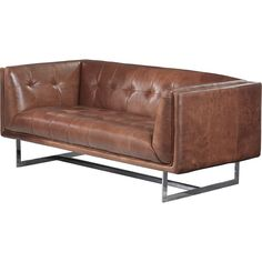 A bright, stainless steel legs provides the perfect perch for the collection. Impeccably tailored, this contemporary loveseat features a unique, shelter-style arm design, coupled with elegant tufting and side panels with a subtle stitching detail.
