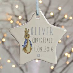 Peter Rabbit Personalised Ceramic Star